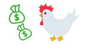 gallo y dinero