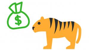 tigre y dinero