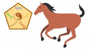 caballo y elementos