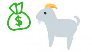 cabra y dinero
