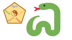 serpiente y elementos