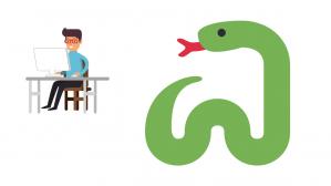 serpiente y trabajo