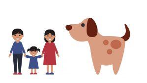 perro y familia