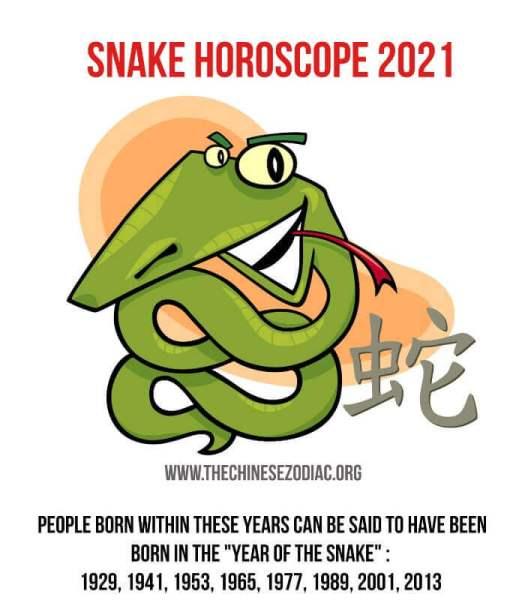 horóscopo año de la serpiente 2021