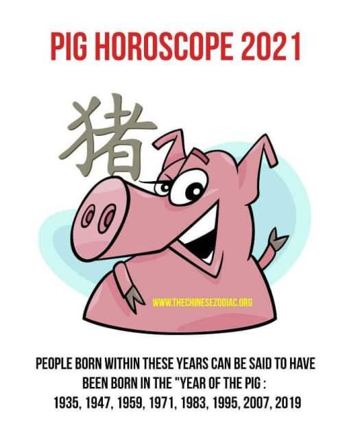 horóscopo año del cerdo 2021